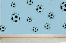 voetbal muurstickers kinderkamer ideeen leuk stoer