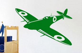 gevecht-vliegtuig-muursticker-kinderkamer