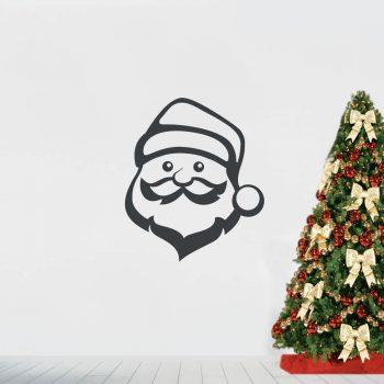 kerstman-muursticker