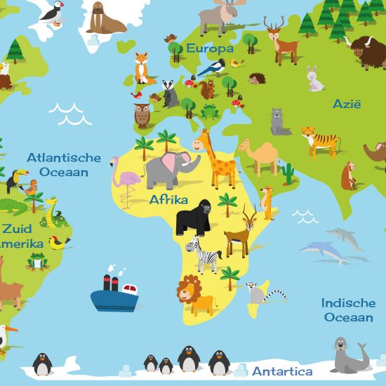 Muursticker wereldkaart kinderkamer 1695 gratis verzending muursticker wereldkaart kinderkamer altavistaventures Images