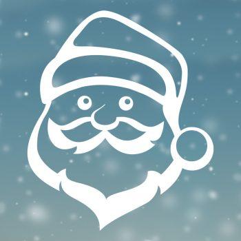 raamsticker-kerstman