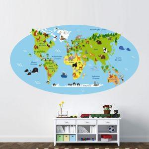wereldkaart-kinderkamer