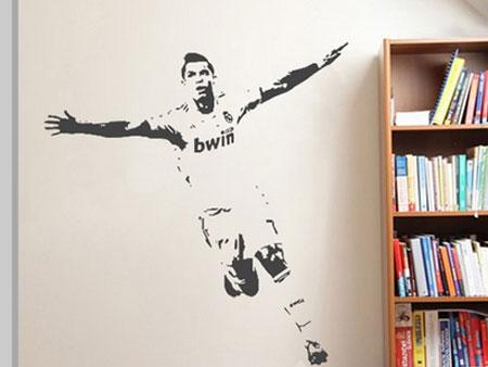 Cristiano Ronaldo Muursticker - Muurstickerstunter.nl