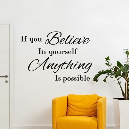 Believe In Yourself Muursticker Gratis Verzending