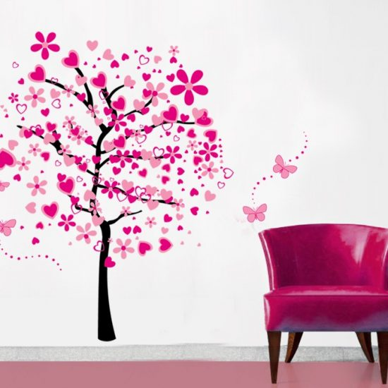Love tree Muursticker