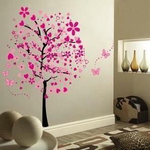 liefdesboom-muursticker