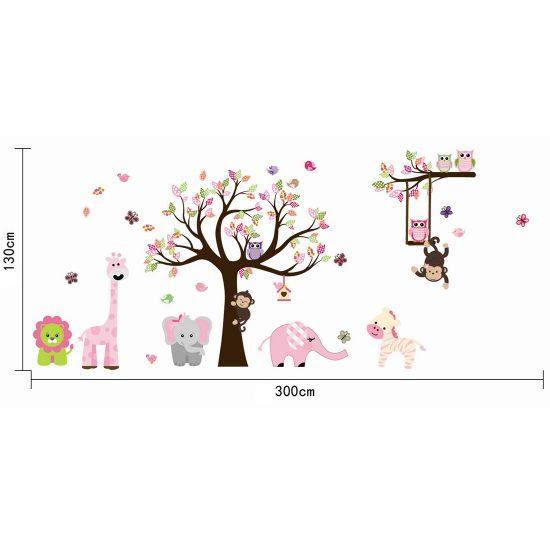 Muursticker-boom-met-dieren-stickervel