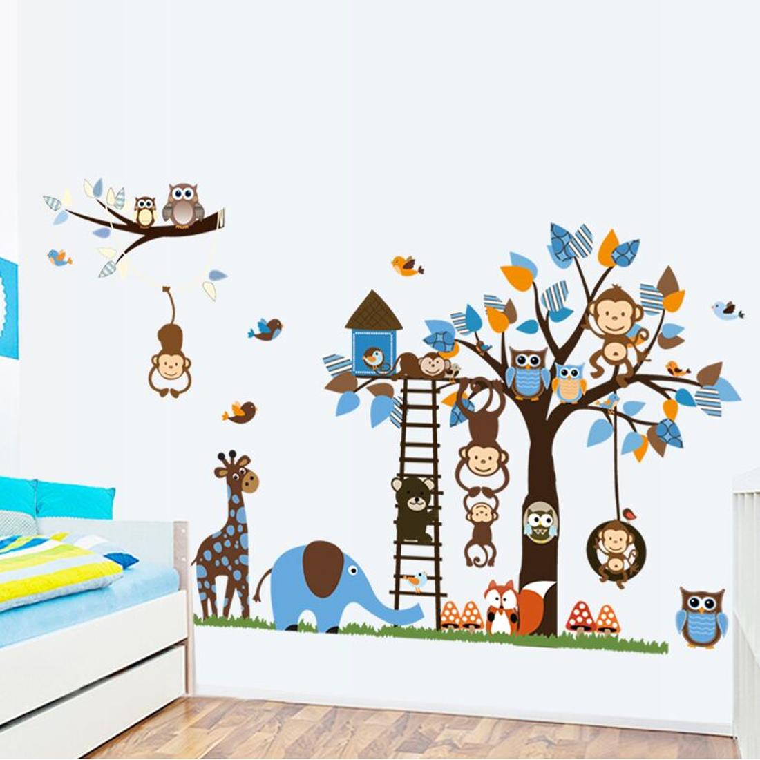 dieren muurstickers voor je woon, slaap en kinderkamer al vanaf € 4,95, Deco ideeën