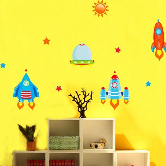 kinderkamer ruimte-muursticker