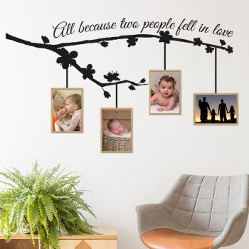 muursticker-woonkamer-all-because-two-people-fell-in-love-familie-sticker-zwart