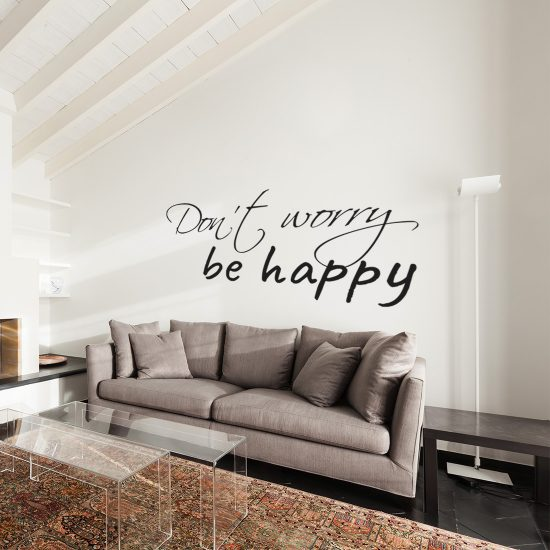 Don\'t Worry Be Happy Muurtekst Muursticker v.a. 14,95 & Gratis ...