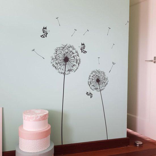 paardenbloem-muursticker-dandelion-kinderkamer-kinderzimmer-wandsticker-decoratie-zwart-wit-wind