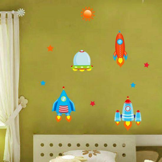 ruimte-muurstickers kinderkamer