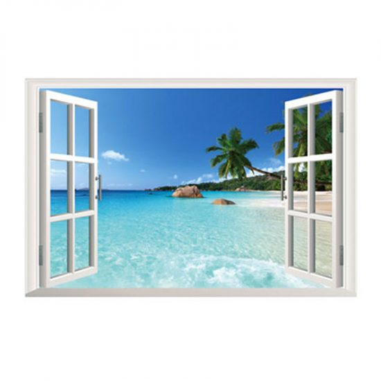 zon-zee-strand-muursticker
