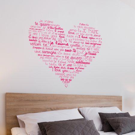 Muurstickers Slaapkamer Love.Tekst Hart Muursticker Voor De Slaapkamer V A 15 95 Gratis