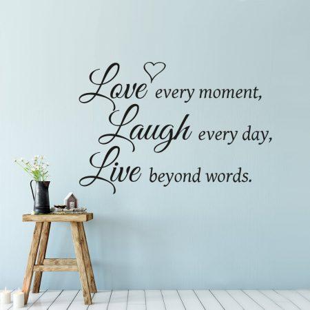 Tekst Op Muur.Love Laugh Live Muursticker Al V A 14 95 Gratis Verzending