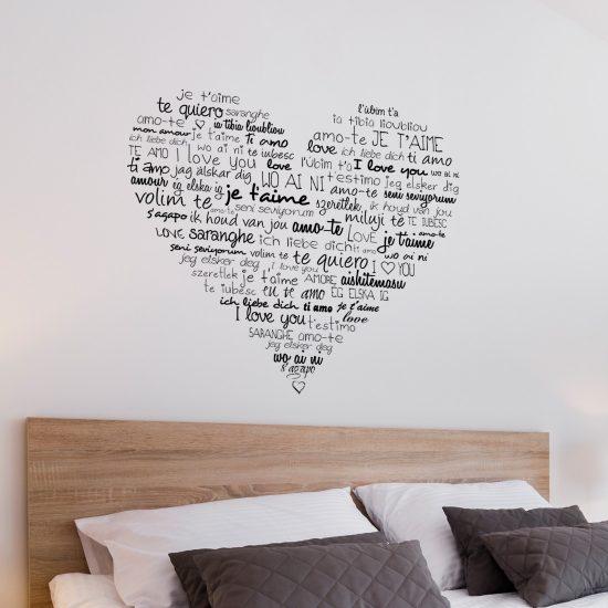 tekst hart muursticker