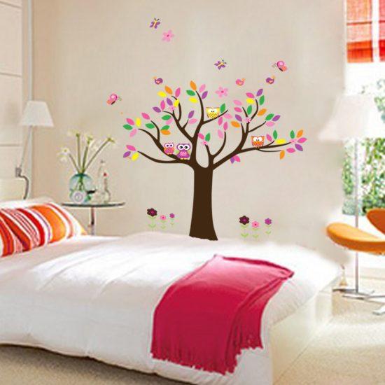 uilen muursticker slaapkamer