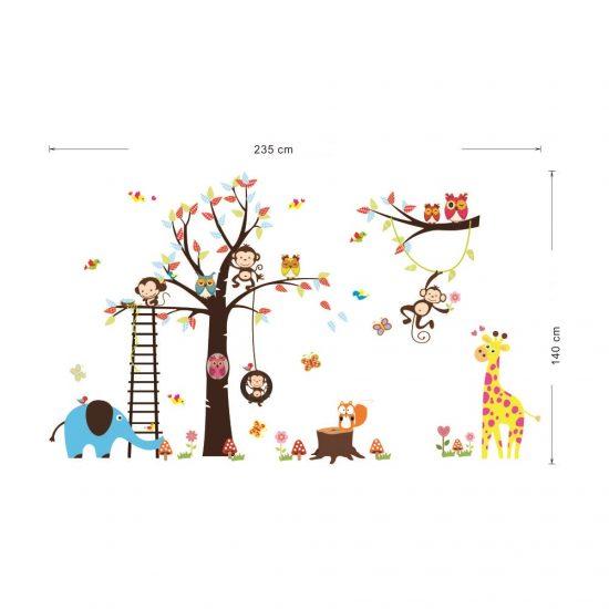 afmetingen boom met dieren