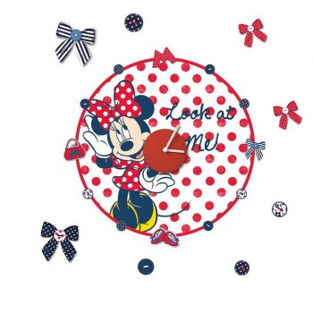 minnie-mouse-muursticker-klok