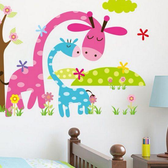 giraffe-muursticker