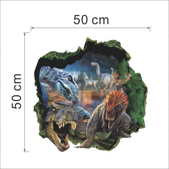 dinosaurus muursticker voor op de wand interieur sticker dinosaurussen