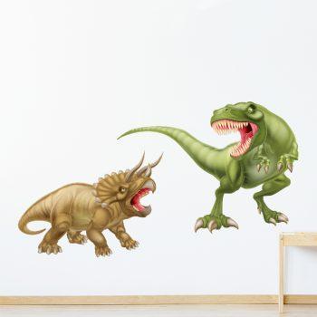muursticker-dinosaurussen-kleur-t-rex