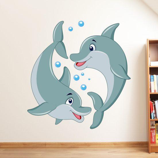 muursticker-dolfijn