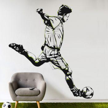 voetballer-schiet-op-goal-muursticker