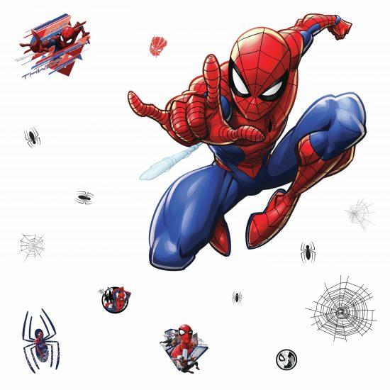 muursticker spiderman kinderkamer stoer ideeen inspiratie rood