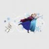 Frozen muursticker met anna elsa en olaf de sneeuwpop aan het schaatsen
