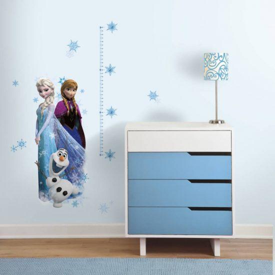 Disney frozen elsa anna en olaf groeimeter muursticker