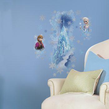 Muursticker Frozen Anna Elsa Zussen ijs paleis roommates sticker kinderkamer