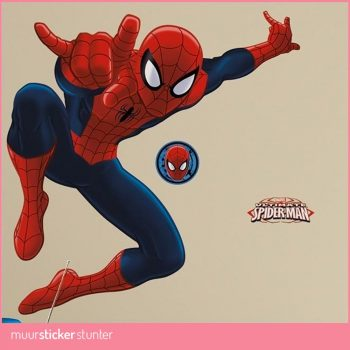 spiderman-muursticker kinderkamer marvel