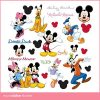 walt-disney-donald-goofy-daisy-mickey-mouse-minnie-mouse-muurstickers