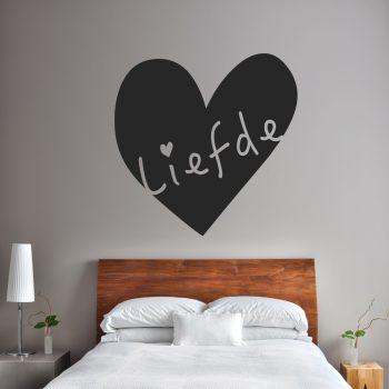 liefde muursticker hart voor de slaapkamer