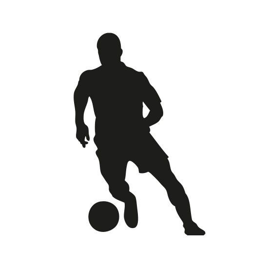 muursticker-voetballer-dribbelend