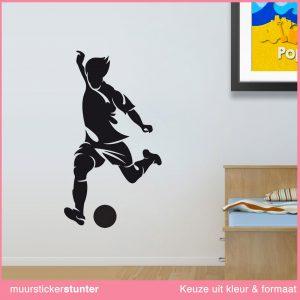 muursticker-voetballer-schot-op-goal