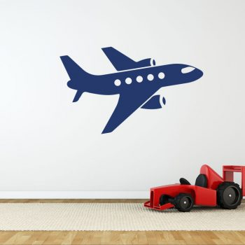 passagiers-vliegtuig-wandstickers