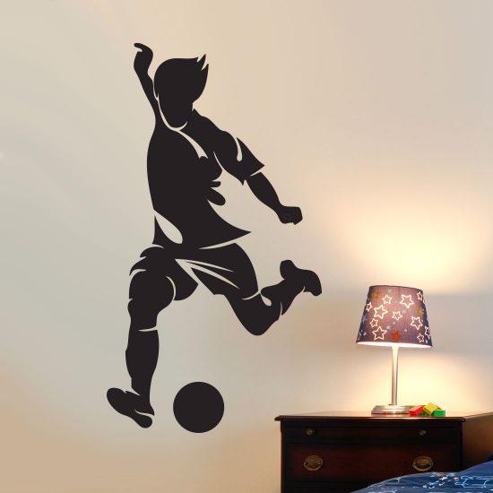 schietende-voetballer-muurstickers-jongenskamer-zwart-silhouette-goedkoop-wallstickers-football