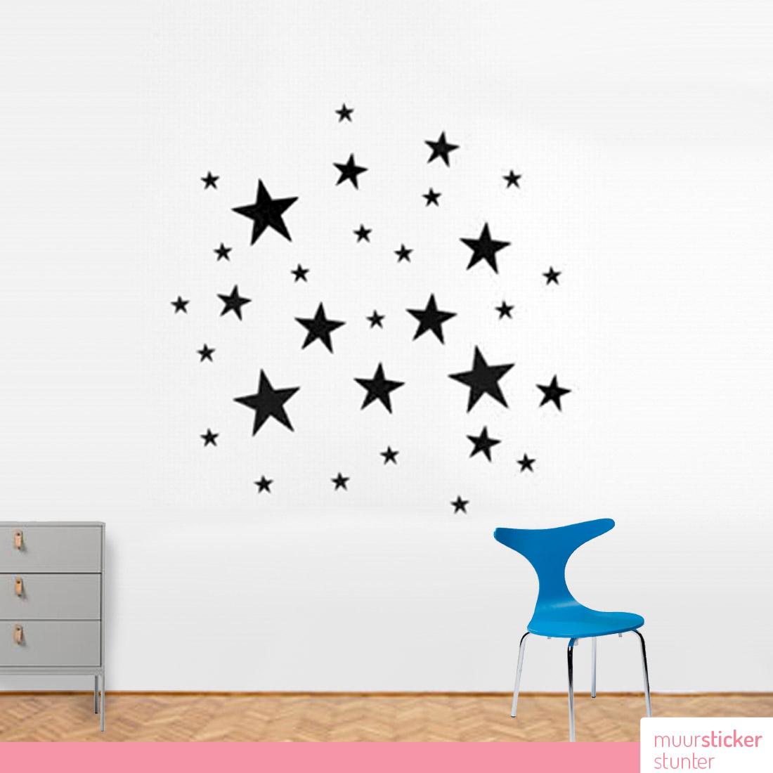 muurstickers sterren - voordelig & kies je eigen kleur!, Deco ideeën