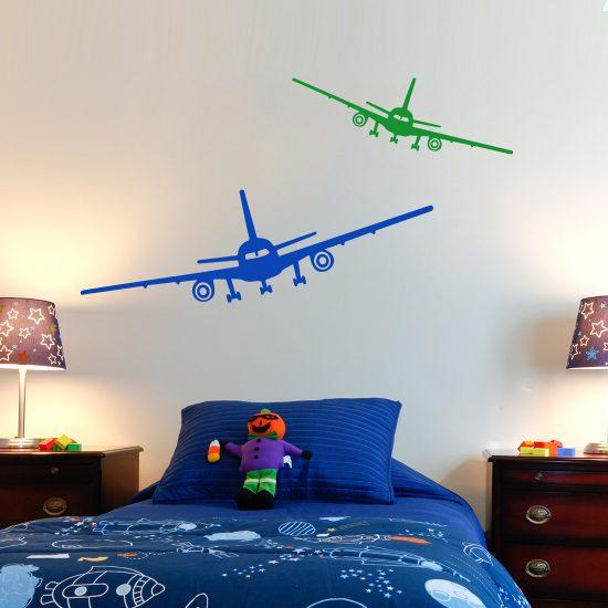 vliegtuig-stickers-voor-kinderkamer-stoer-blauw-groen-muurstickerstunter-goedkoop