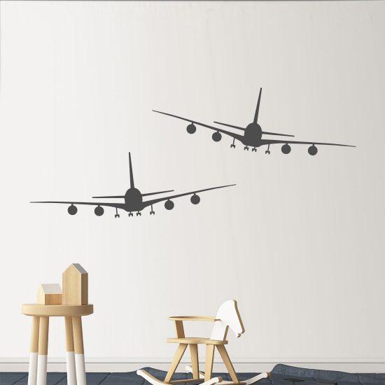 vliegtuigen-passagiers-klm-boeing-747-stikkers-muurstickers