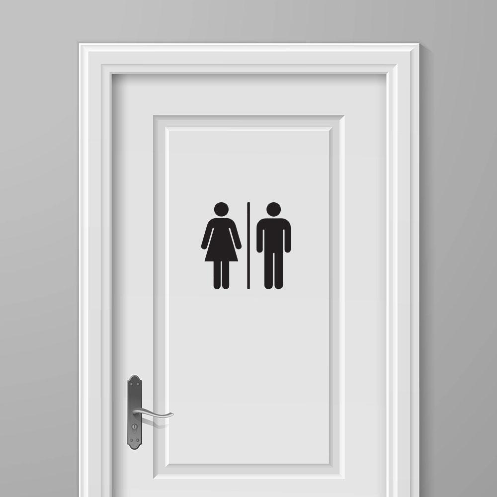 Wc sticker man vrouw voordelige mooie toilet stickers tip - Wc oranje ...