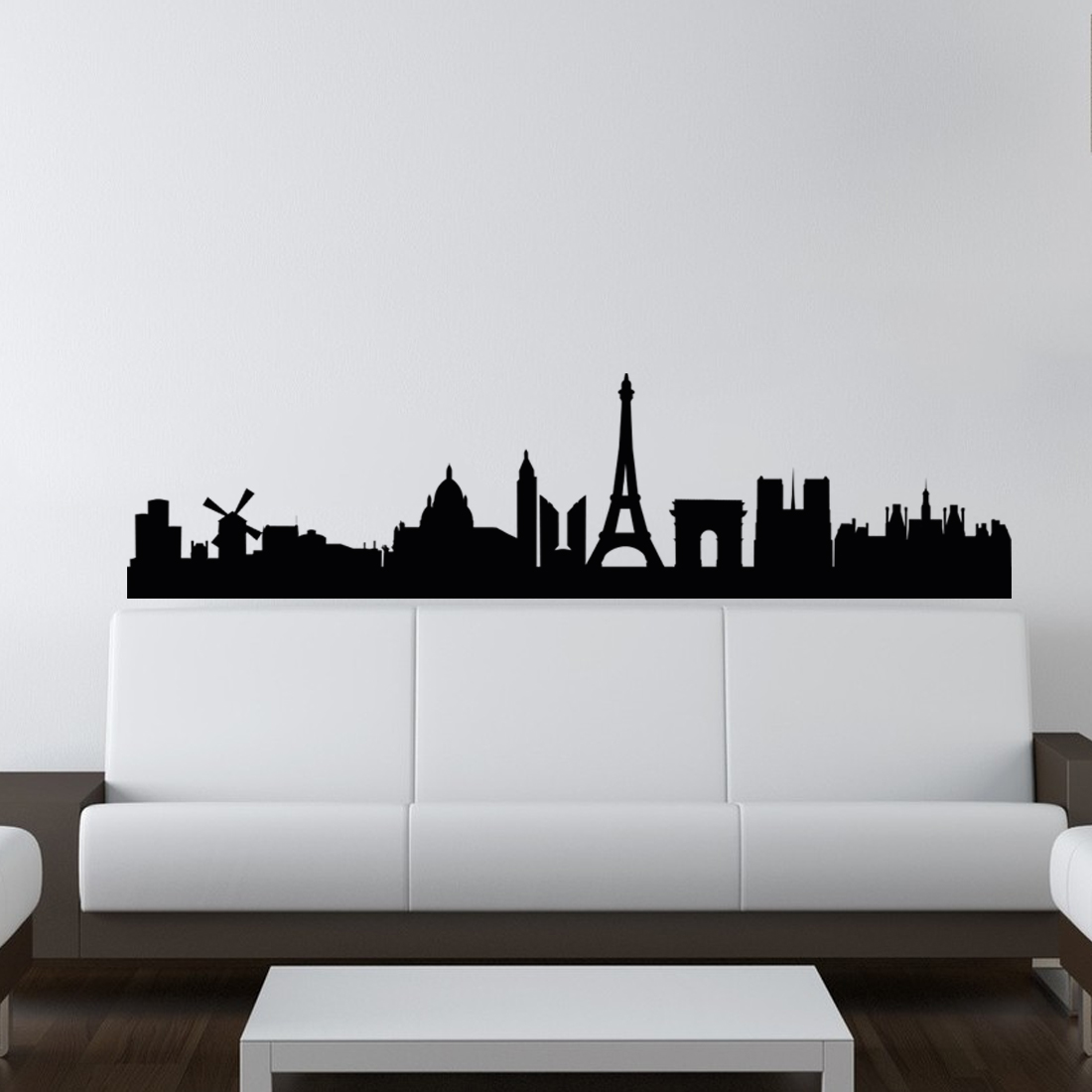 Muursticker Parijs Skyline - al vanaf €15,00 - Muurstickerstunter
