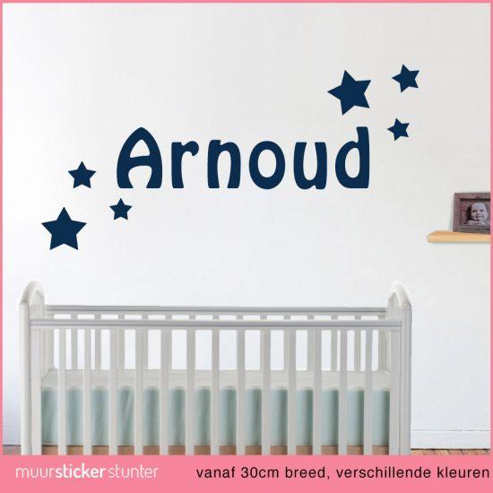 ... muurstickers babykamer en kinderkamer » Muursticker naam met sterren