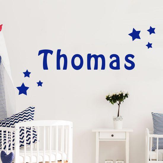 Muursticker naam met sterren kies je formaat kleur for Kinderkamer versiering