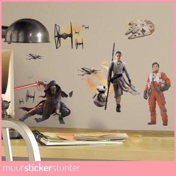 Star-Wars-VII-The-Force-Awakens-Muursticker