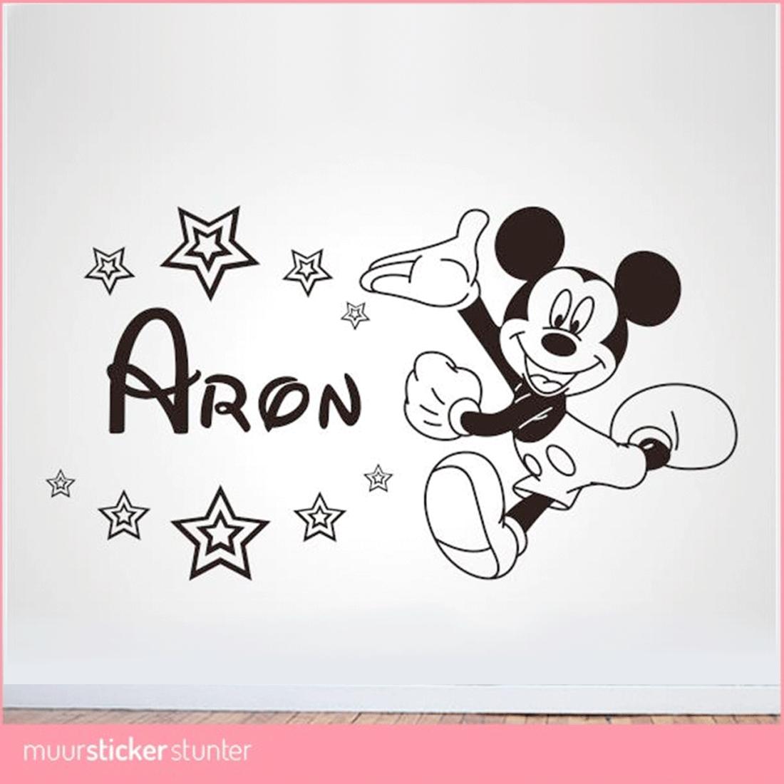 mickey-mouse-muursticker-zwart-kinderkamer-silhouette-disney-naamsticker