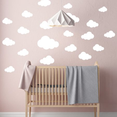 Stickers Voor Op De Muur Kinderkamer.Wolken Muurstickers Set Met 20 Stuks